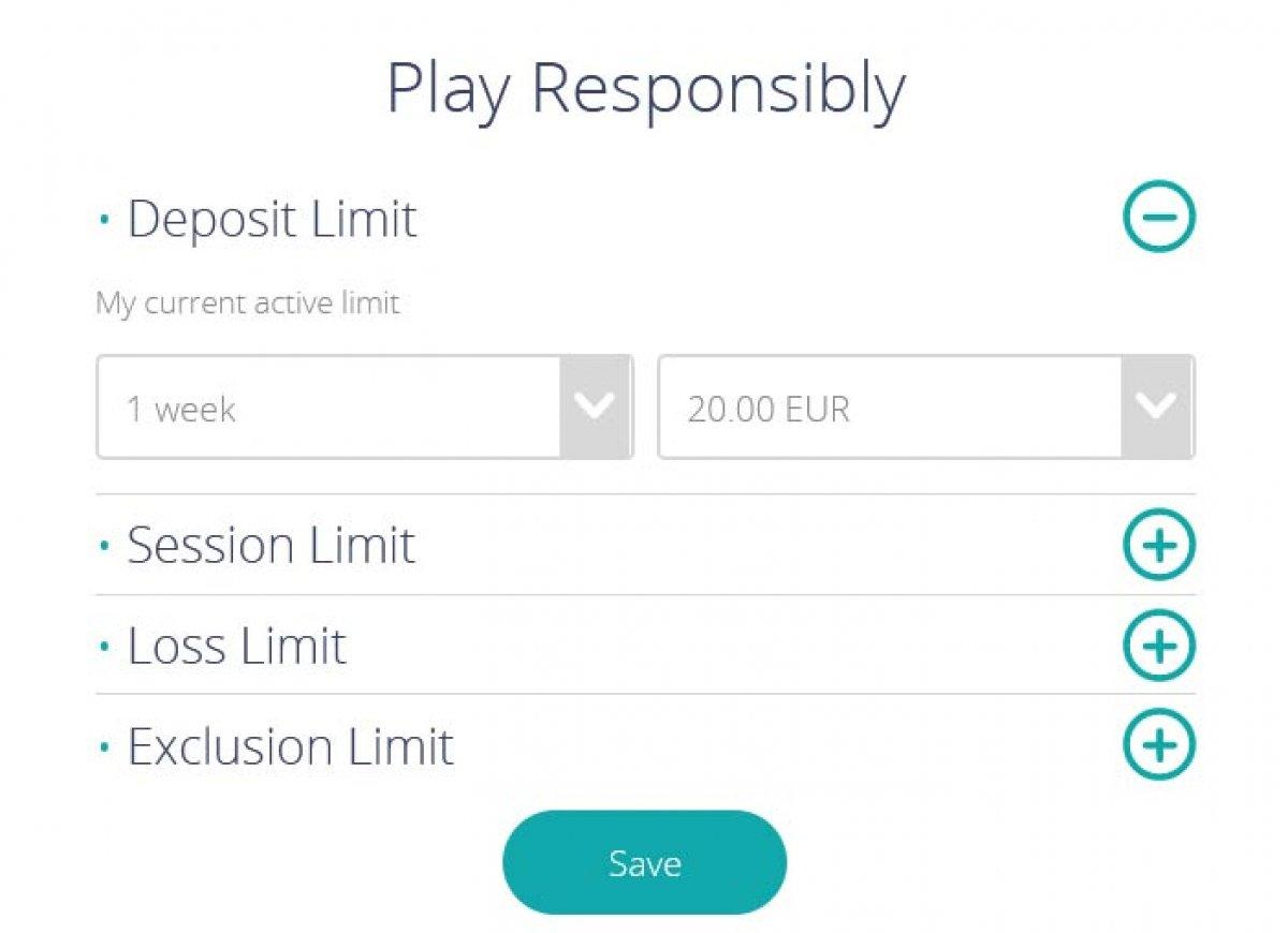 Responsible gaming options