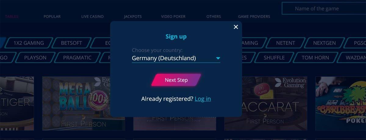 MrBit Signup screen